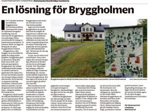 en lösning för Bryggholmen